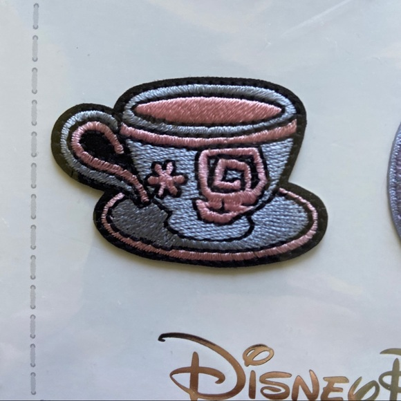 Castle Dumbo Teacups Small World Disney Fantasyland Icons Patched Set of 4 Patches